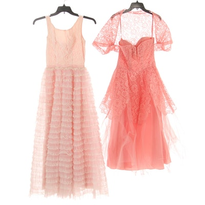 Corrine Original and Nadine Lace Occasion Dresses, 1950s-1960s