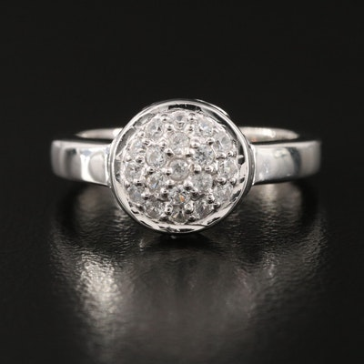 Sterling Silver Zircon Cluster Ring