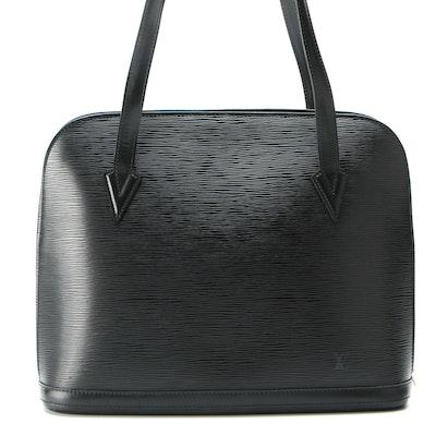 Louis Vuitton Lussac Tote in Black Epi Leather