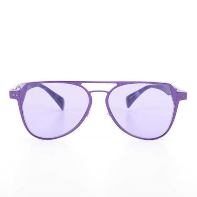 Yohji Yamamoto YY7042 Aviator Sunglasses with Case