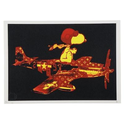 """Death NYC Pop Art Graphic Print """"Snoop Plane Red Y,"""" 2020"""