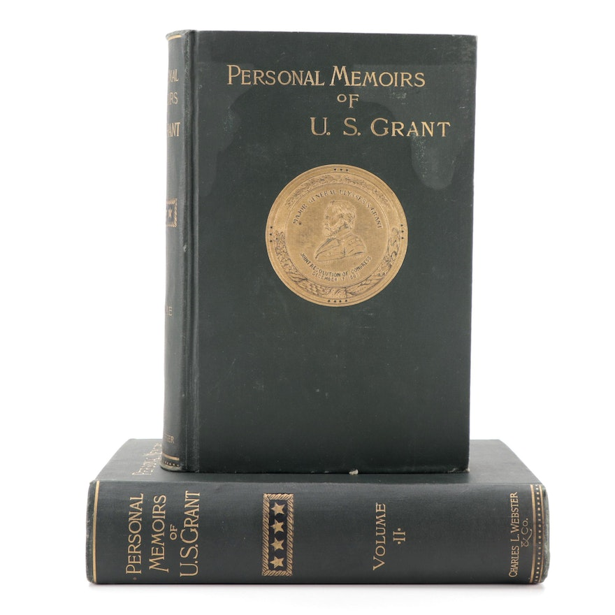 """First Edition """"Personal Memoirs of U. S. Grant"""" Two-Volume Set, 1865–1866"""