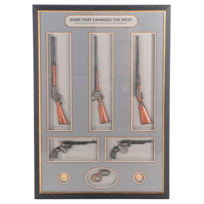 """""""Guns That Changed The West"""" Framed Miniatures, National Firearm Museum"""