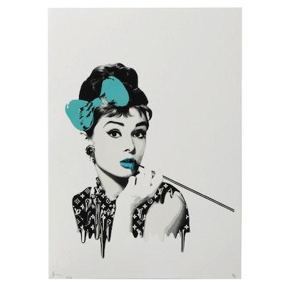 Death NYC Pop Art Graphic Print Featuring Audrey Hepburn, 2020