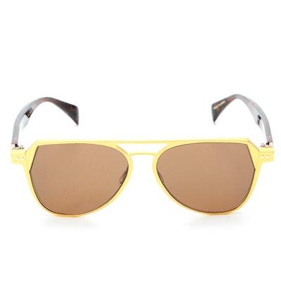 Yohji Yamamoto YY7042 Matte Gold Tone Sunglasses with Case