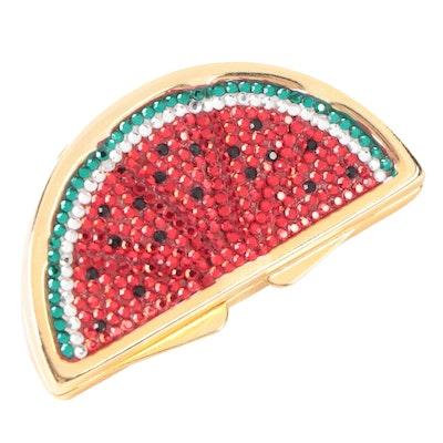 Judith Leiber Crystal Embellished Watermelon Slice Pillbox