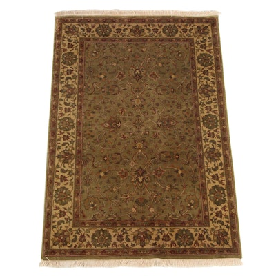 3'11 x 6'2 Hand-Knotted Indian Chobi Style Area Rug