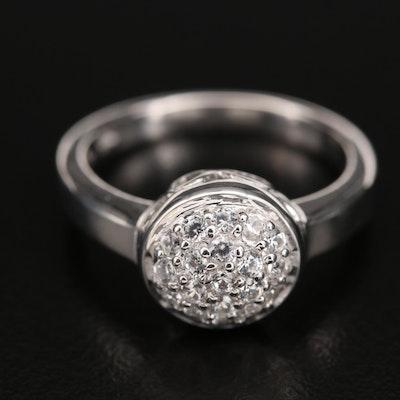 Sterling Pavé Zircon Ring