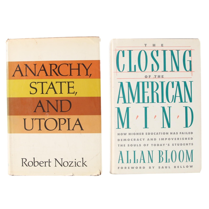 """Signed First Edition """"Anarchy, State, and Utopia"""" by Robert Nozick and More"""