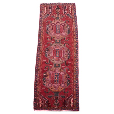 3'8 x 10'6 Hand-Knotted Northwestern Persian Long Rug