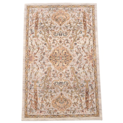 3'5 x 5'5 Machine Made Floral Accent Rug