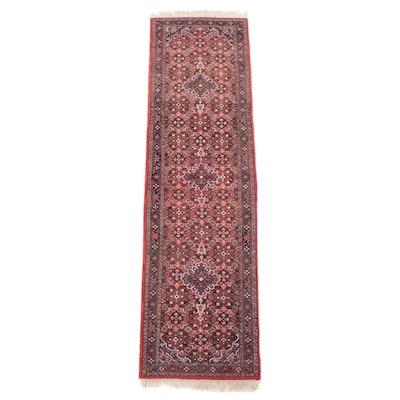 2'10 x 10'4 Hand-Knotted Persian Gogarjin Herati Carpet Runner