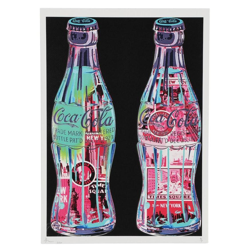 Death NYC Pop Art Graphic Print of Coca-Cola Bottles, 2020