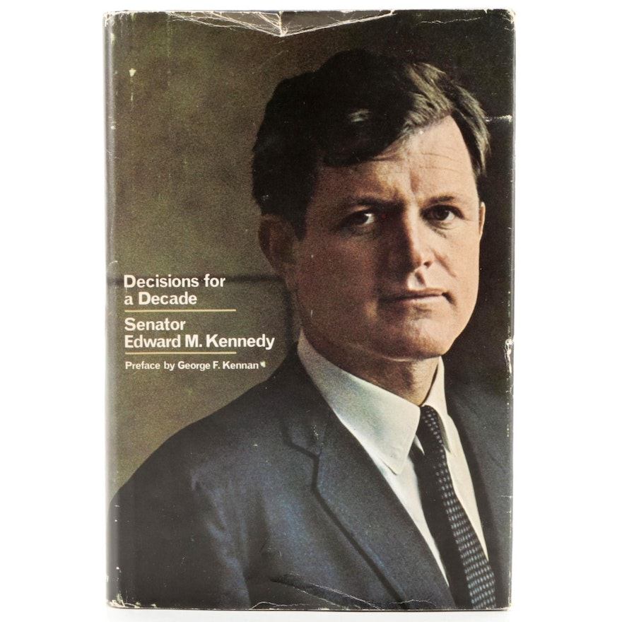 """Signed First Edition """"Decisions for Decades"""" by Edward Kennedy, 1968"""
