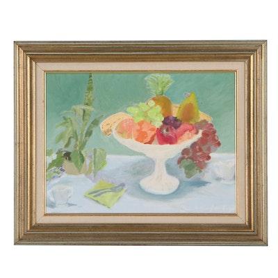Still Life Acrylic Painting of Fruit, Circa 2000