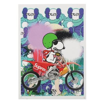 "Death NYC Pop Art Graphic Print ""XX Snoop Bike 5,"" 2020"