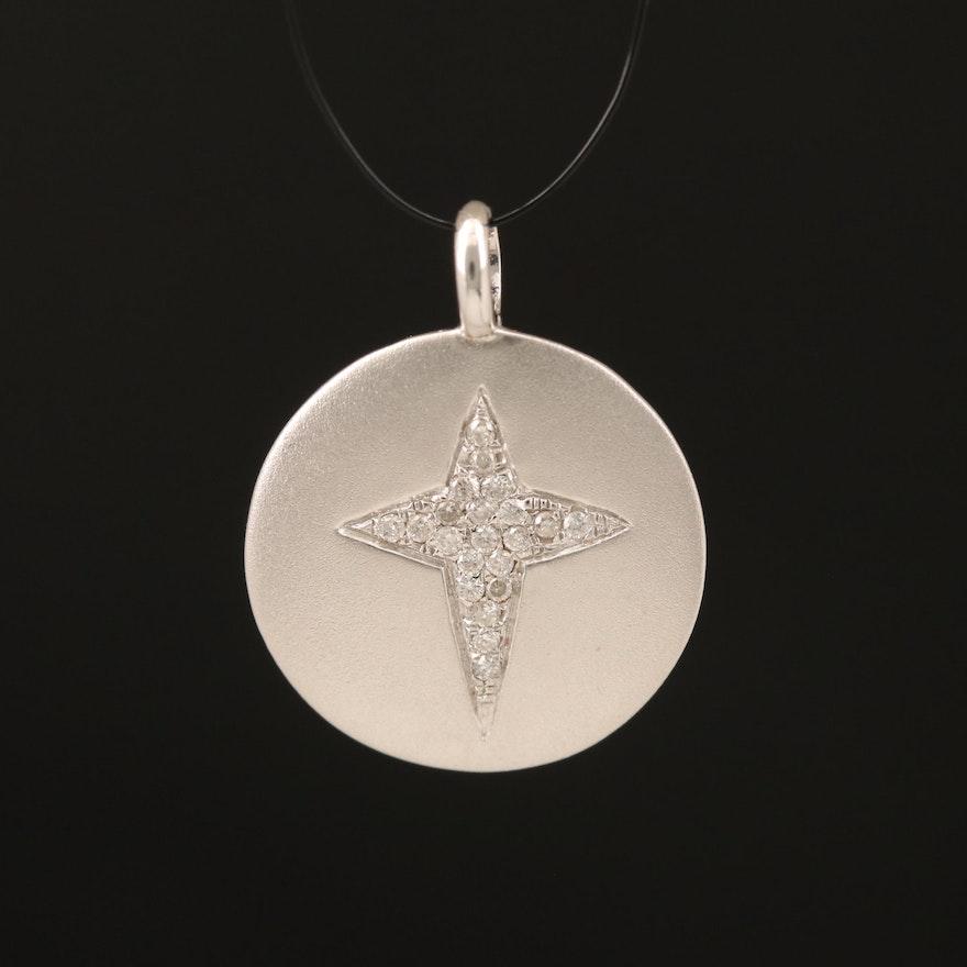 14K 0.06 CTW Diamond Star of Bethlehem Pendant