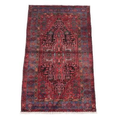 4'6 x 7'7 Hand-Knotted Persian Zanjan Area Rug
