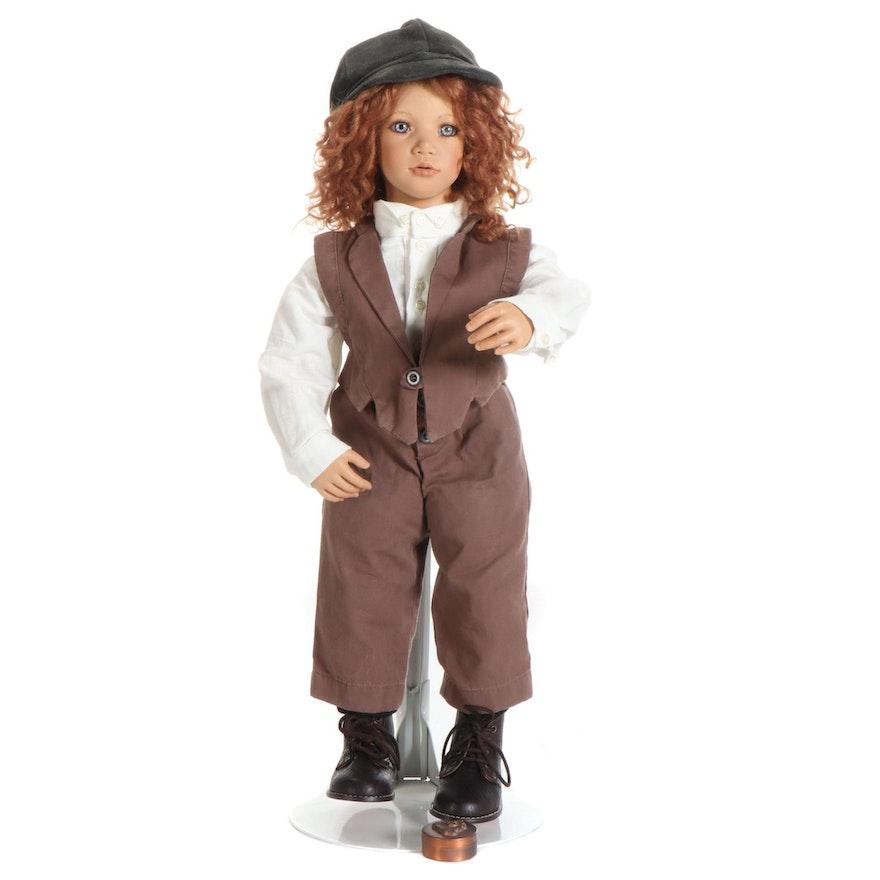 """Annette Himstedt Ceramic Doll """"Charly"""", 1996"""