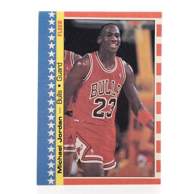 "1987-1988 Michael Jordan Fleer #2 ""2nd Year"" NBA Basketball Sticker"