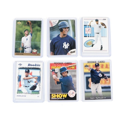 1990s Derek Jeter New York Yankees Upper Deck, Score, and Other Rookie Cards