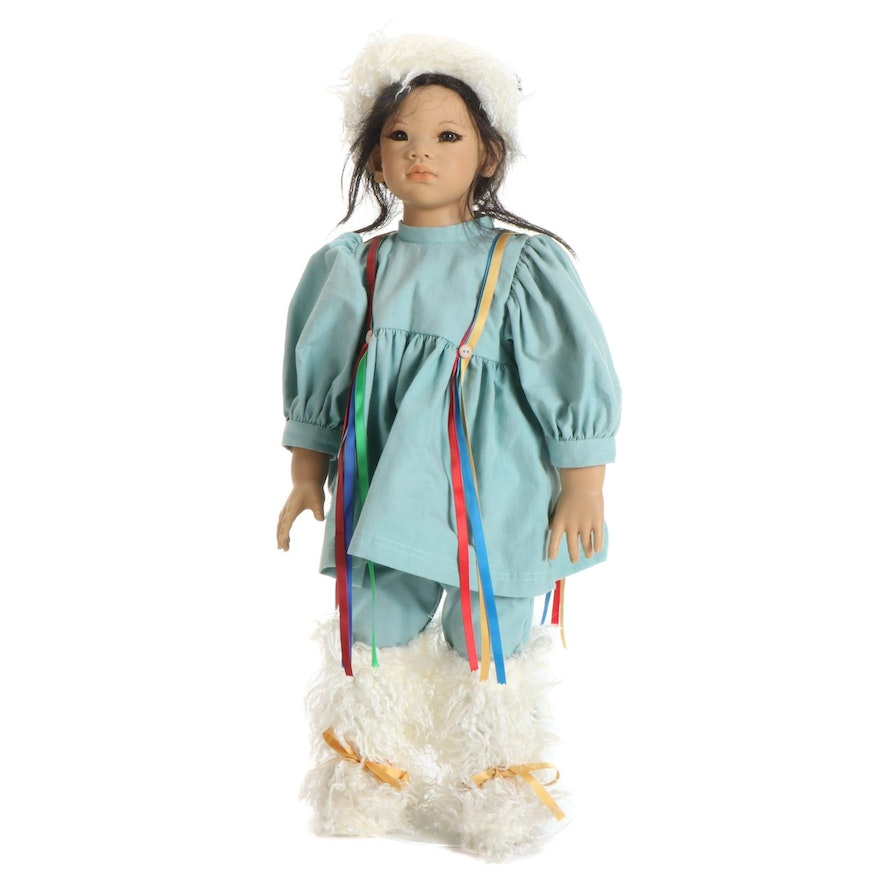 """Annette Himstedt  Images of Childhood Doll """"Kima"""" with COA"""