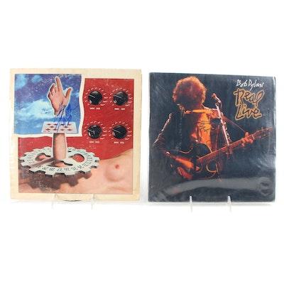Jerry Garcia, Bob Dylan Signed Vinyl LP Record Albums