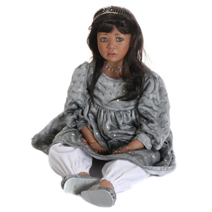"Christine Orange 38"" Porcelain Doll ""Millie"" with COA"