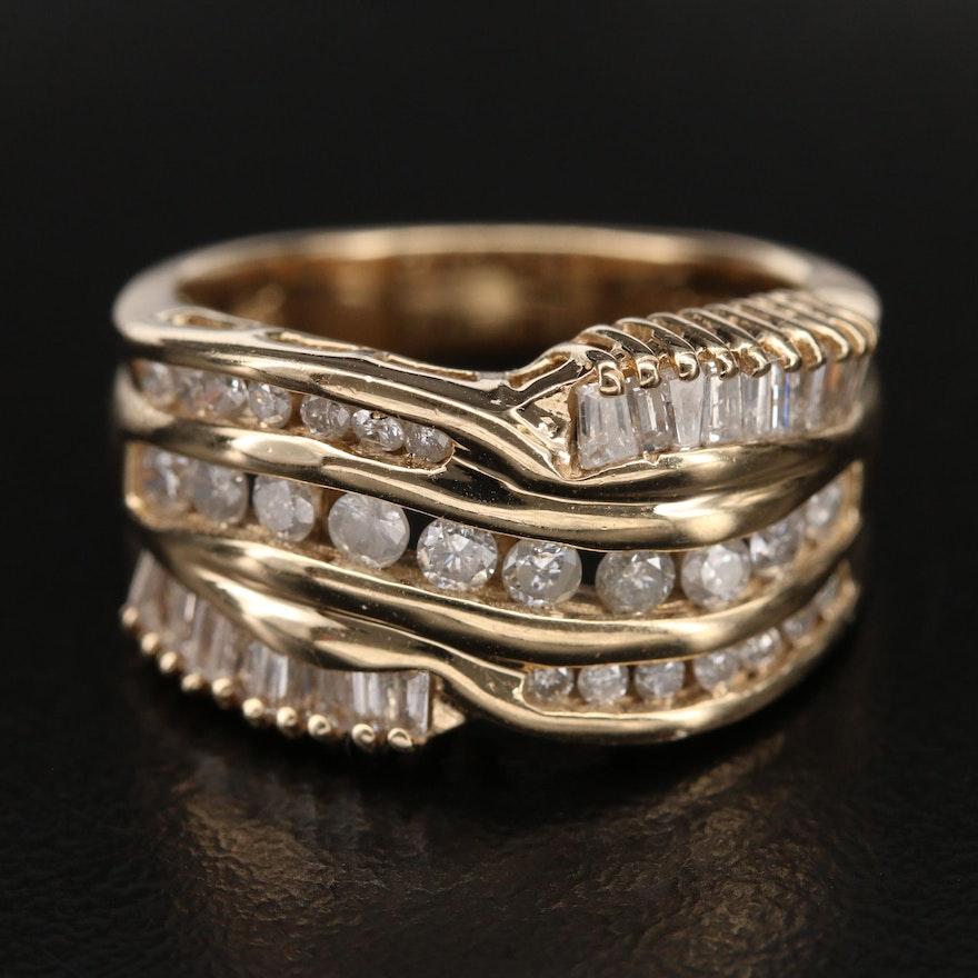 14K Multi-Row 1.00 CTW Diamond Ring