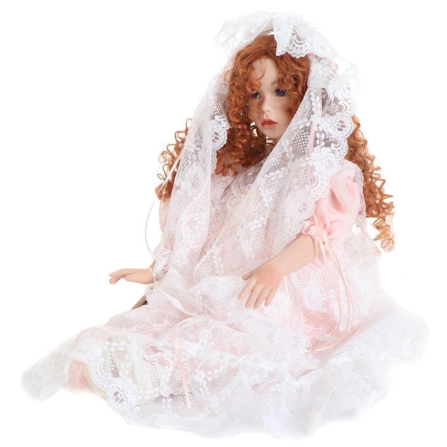 "Elke's Originals Porcelain Doll ""Desiree"" with COA"