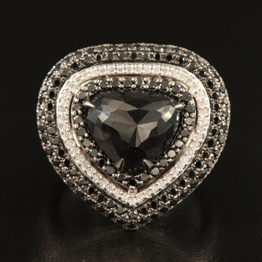 18K Diamond Ring with Split Shoulders