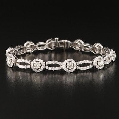 14K 7.25 CTW Diamond Fancy Link Bracelet