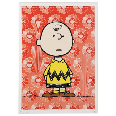 Death NYC Pop Art Graphic Print Featuring Charlie Brown, 2020