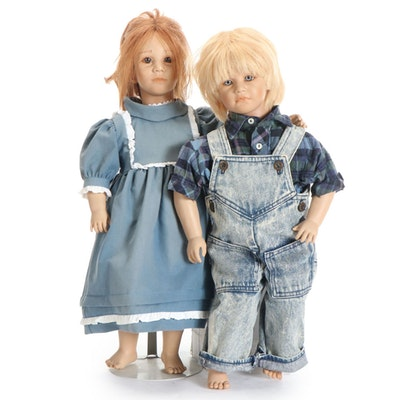 """The American Heartland Collection  """"Timi"""" and """"Toni"""" Dolls with COA"""