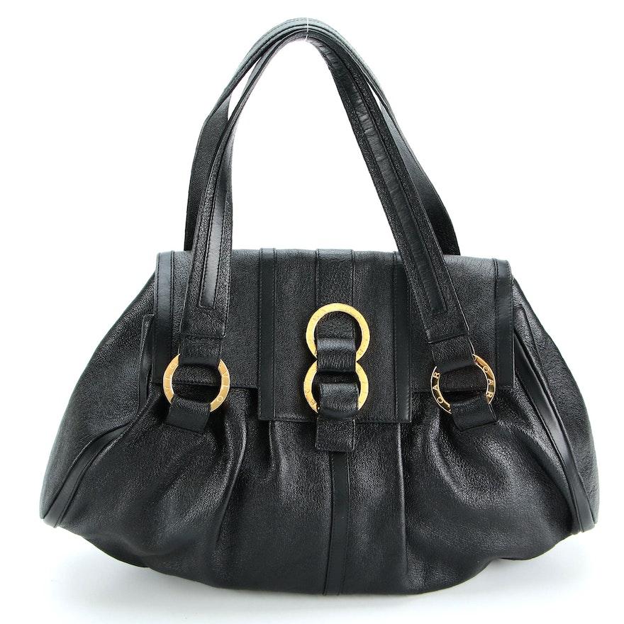 BVLGARI Chandra Satchel in Glossy Leather