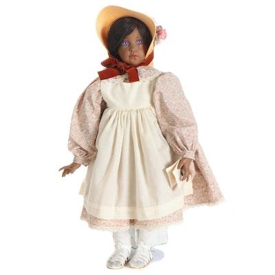 """Hildegard Gunzel Vinyl Doll """"Ebony"""" with COA"""