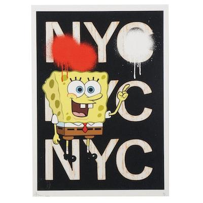 Death NYC Pop Art Graphic Print Featuring Spongebob Squarepants, 2020