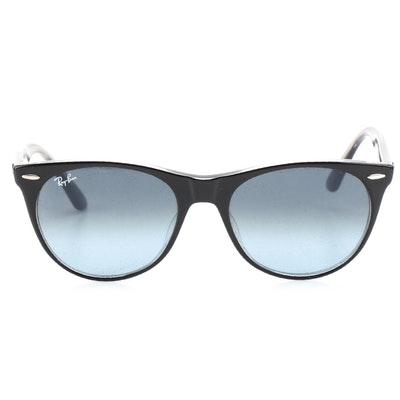 Ray-Ban RB2185F Wayfarer II Classic Sunglasses in Black with Case and Box