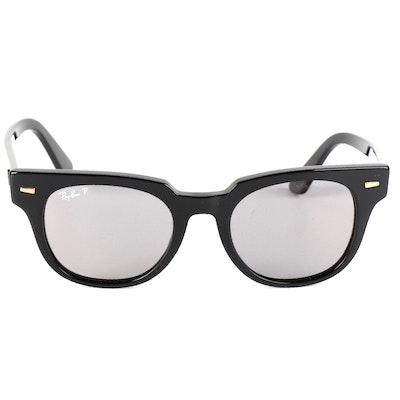 Ray-Ban RB2168 Meteor Polarized Sunglasses in Black with Case