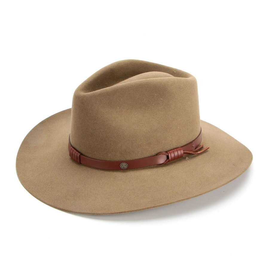 Stetson The Gun Club Collection Catera 5X Fur Felt Western Hat with Box