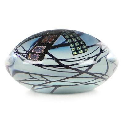 John McDonald Cityscape Dichroic Art Glass Paperweight