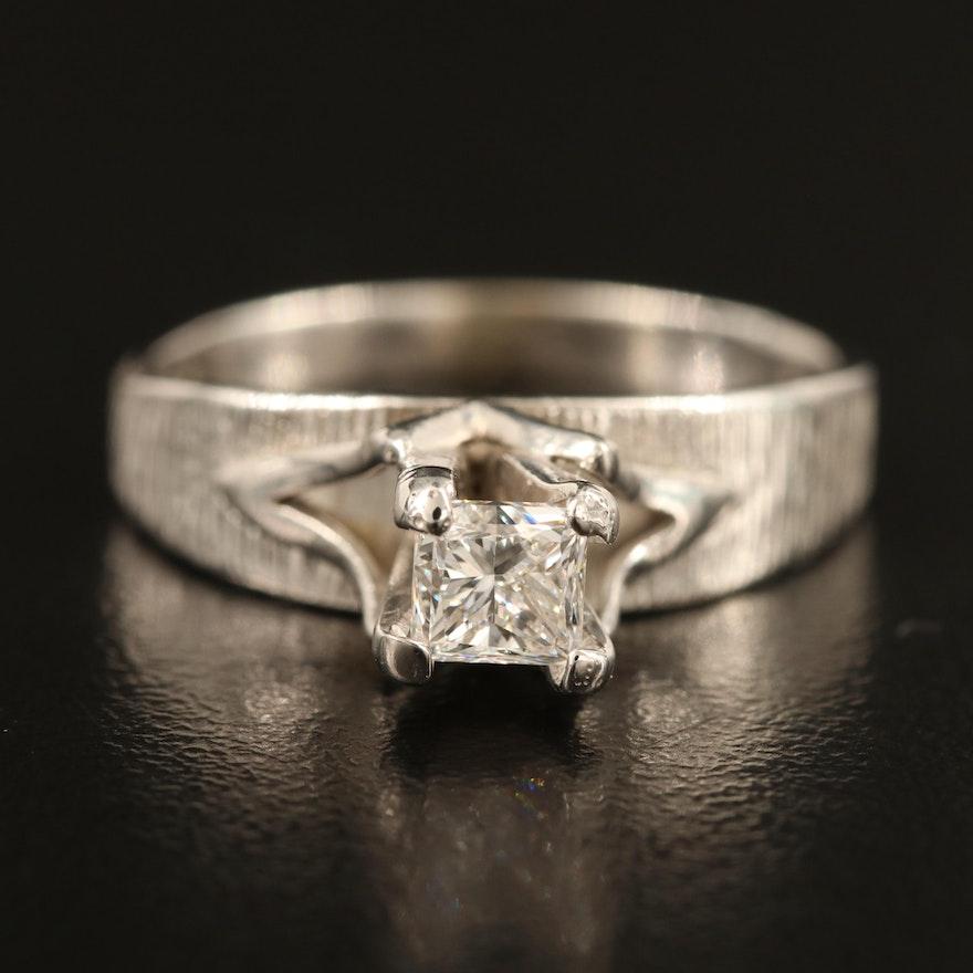 Vintage 10K 0.60 CT Diamond Solitaire Ring