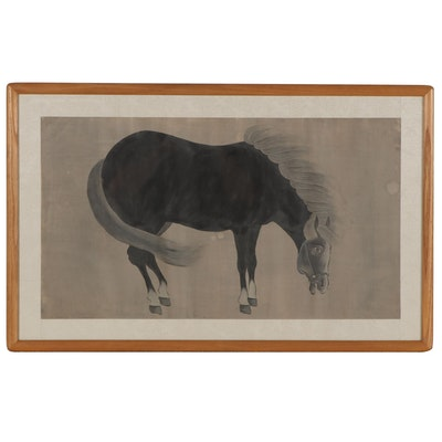 Ink Wash Painting of Horse After Zhao Mengfu