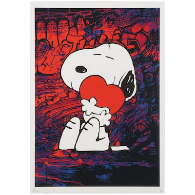 Death NYC Pop Art Graphic Print Featuring Snoopy, 2020