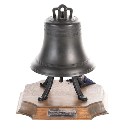 Whitechapel Bell Foundry Bronze Limited Edition Liberty Bell Replica, 1776-1976