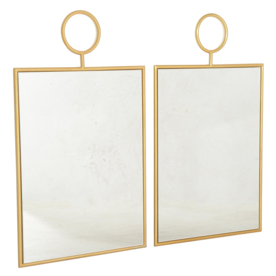 Zuo Modern Contemporary Gold Tone Metal Framed Wall Mirrors