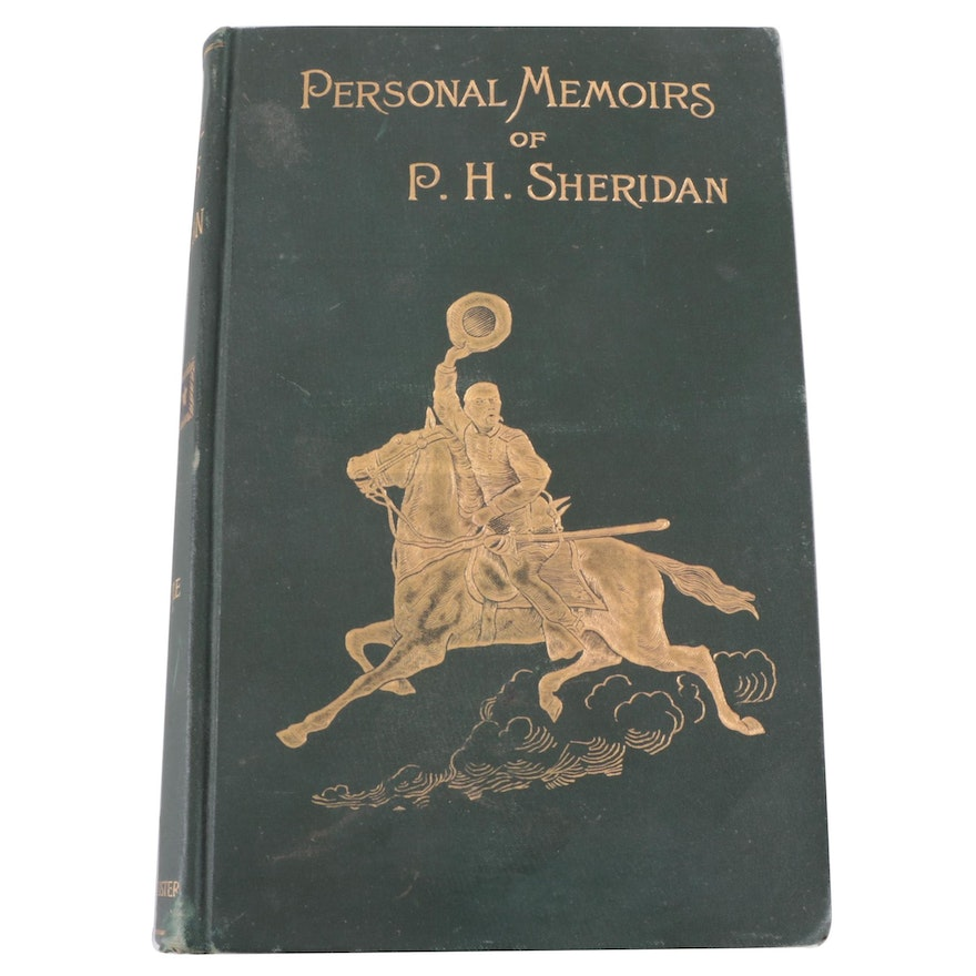 """First Edition """"Personal Memoirs of P. H. Sheridan,"""" 1888"""