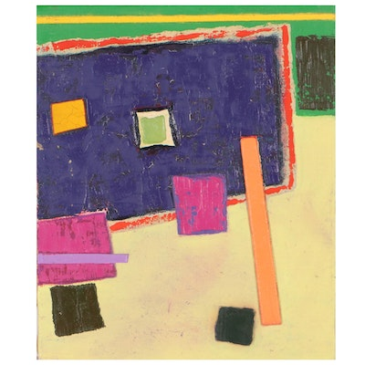 Walter Sorge Abstract Geometric Oil Painting