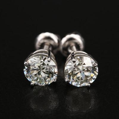 14K 1.90 CTW Diamond Stud Earrings