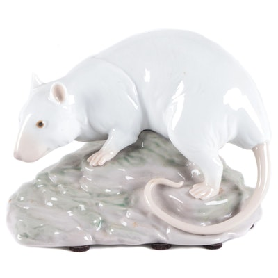 "Lladró Zodiac Collection ""The Rat"" Figurine Designed by Alfredo Llorens"